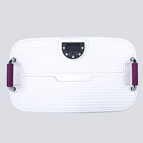 Topashe Plataforma Vibratoria de Fitness Motor,Máquina de Adelgazamiento por vibración de pasamanos, máquina de Modelado de Cuerpo silencioso,Plataforma Vibratoria Fitness