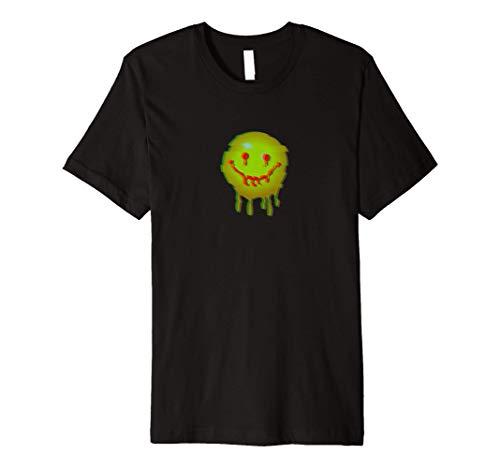 Acid House Glitch Art Smiley Face EDM Techno Premium T-Shirt