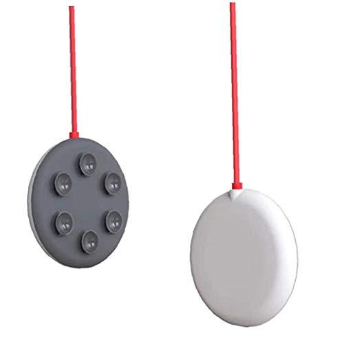 YepYes Cargador inalámbrico de ratón, del lechón Base de Carga inalámbrica Puerto Rápido Mini portátil 15W Compatibale con el iPhone Samsung Gris