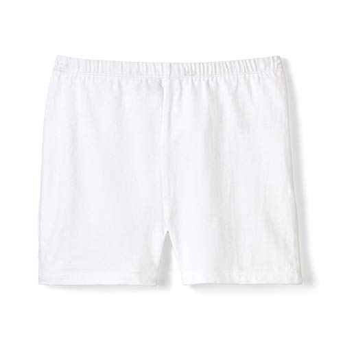 French Toast Girls' Big Stretch Kick Short, White, L (10/12)