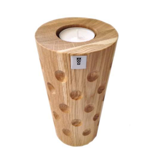 Teelichthalter Dubbeglas 0,25 l aus Holz