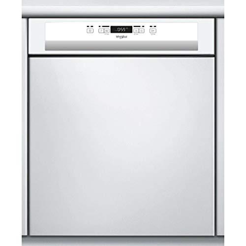 Lave vaisselle encastrable 60 cm Whirlpool WBC3C26 - Lave vaisselle integrable Bandeau blanc - Classe énergétique A++ / Affichage temps restant - Départ différé