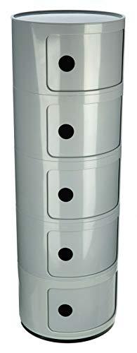 Costello® - Componibili - Cajonera para el lado de la cama, color blanco, moderna, 2 3 4 5