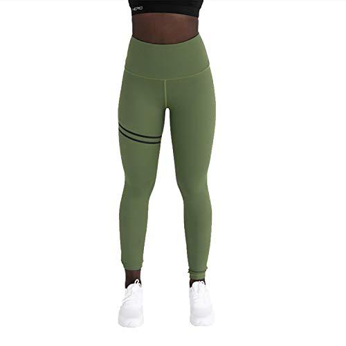 XIANGHUI Fitness Leggings Pantalones de Yoga para Mujeres, Pantalones de Estiramiento Suaves para Mujeres, Pantalones de Yoga con Bolsillos, Ejercicios de Control de Abdomen de Cintura Alta