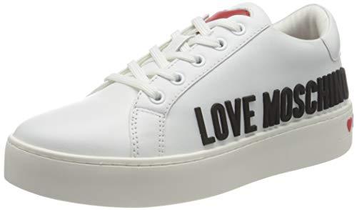 Love Moschino SS21, Chaussure Femme, Blanc, 40 EU