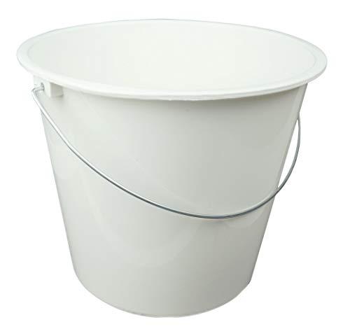 HRB Haushaltseimer, Putzeimer mit Metallbügel, 5 Liter (Weiß, 1 Stück)