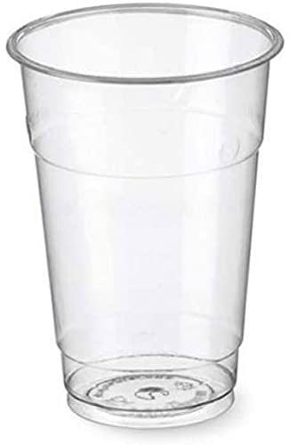 100/500/1000 Bicchieri monouso 500ml tacca 0,4 Biodegradabili e Compostabili in PLA usa e getta Plastic free   After Plastic (500)