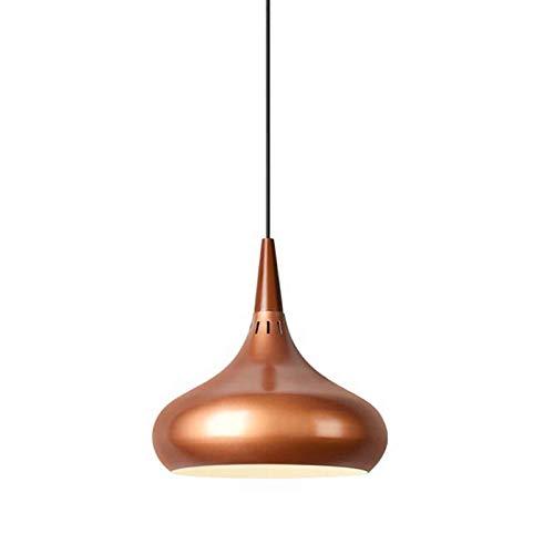 LSJZZ Lámpara de araña de Cabeza única LED y lámpara de Pasillo Ligero de macarrón Simple y Simple es Adecuado para la Tienda de té de Leche, restaurantes, cafeterías, restaurantes, etc,28 * 28cm