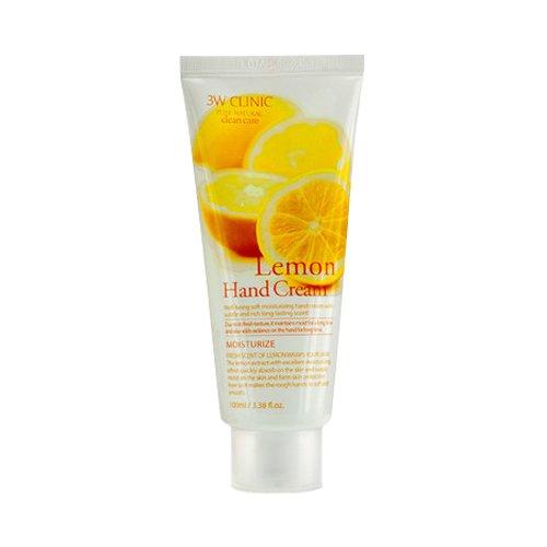 3W Clinic - Lemon Hand Cream - Citron Crème pour les mains - Crème pour les mains à l'extrait de citron pour les hommes et les femmes - Soins des main