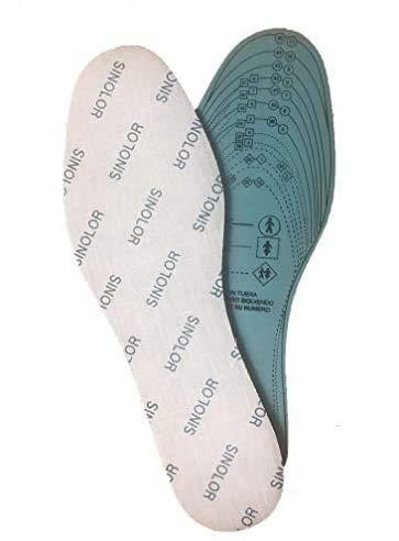 EUROXANTY® Plantillas de Zapatos Recortables | Antibacterias | Plantillas de Látex | Talla 35/45 | Cómodas | Ultraligeras | (ALOE, 1 PAR)