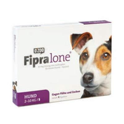 FIPRALONE 67 mg Lsg.z.Auftropf.f.kleine Hunde vet. 4Stück