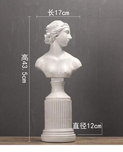 RFGTH Estatuilla Animal Estatua Adornos Blanco y Negro Diosa Figura Estatua Modelo Sala de Estar Gabinete de Vino Estudio de Oficina Obra de Arte Decoración Escultura