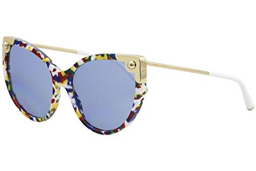 Dolce & Gabbana 0DG4337 Occhiali da Sole, Multicolore (Multicolor Cube), 60 Donna