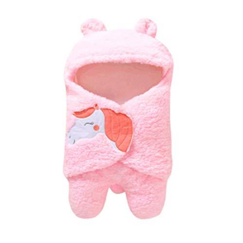 MoccyBabeLee - Manta para bebé recién nacido con capucha y forro polar, saco de dormir para bebés y niñas