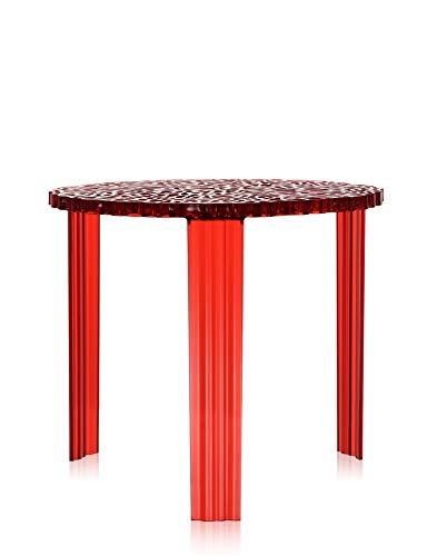 Kartell tafel, bamboe, 50 x 44 x 50 cm 50 x 44 x 50 cm rood