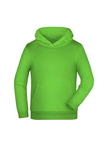 Sweat à Capuche Enfants Hoodie Hiver Sport garçon Fille en Lime-Green Taille: S