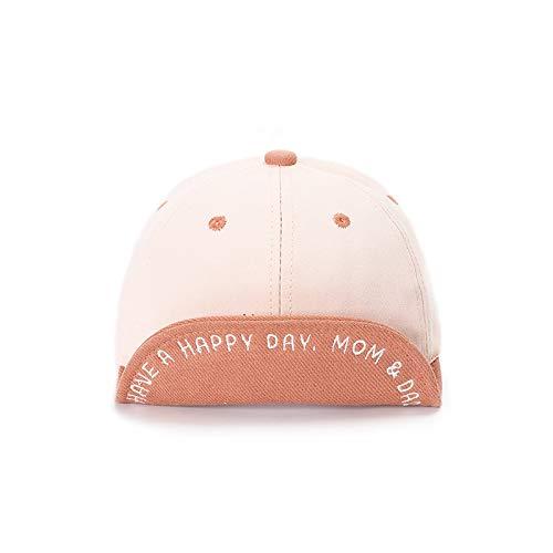 Sombrero bebé Nueva versión Coreana de algodón Puro Letras de Borde Suave Color a Juego Gorras para niños Gorros de bebé de Primavera y Verano