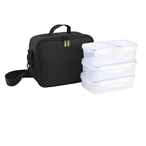 Oryx 5025050 Bolsa Isotermica Con 4 Recipientes Hermeticos Plastico (2x800 ml + 2x400 ml.)