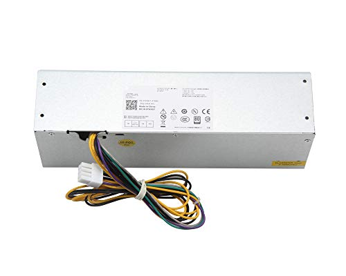 Milipow 255w Power Supply compatible con Dell OptiPlex 9020 7020 3020 la precision T1700 SFF sistemas de factor de forma pequeño, número de modelo: l255as-00 ps-3261-2df, yh9d7 r7ppw nt1xp 3xrj0