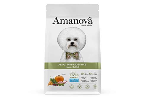 Amanova Cibo Secco Super Premium per Cani di Taglia Piccola con Stomaco sensibile Gusto Coniglio - 100% Naturale, ipoallergenico e monoproteico - Grain Free - Cruelty Free - Formato da 2 kg