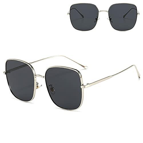 Gafas de sol polarizadas para adultos, protección UV, adecuadas para ciclismo, correr, viajes, playa, pesca, color plateado