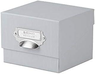 Rössler 1325452170 - Caja organizadora de fotos con tapa y porta etiquetas, color Gris (