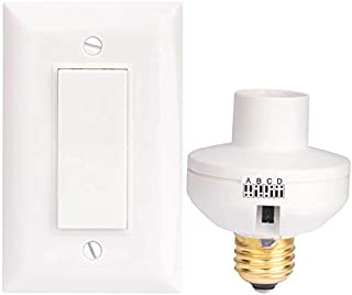 Wireless Remote Control Light Switch and Socket Cap to Turn Lamps and Pull Chain Fixtures On and Off