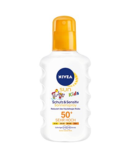 Nivea Sun Kids Protect & Sensitive Sonnenspray LSF 50+, 1er Pack (1 x 200 ml)