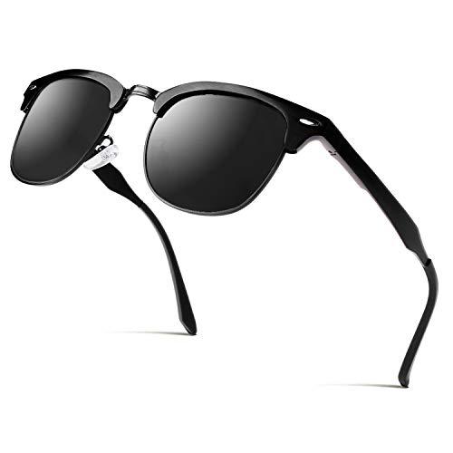 CGID Al-Mg Legierung Stil Polarisierte Sonnenbrillen UV400 Sonnen brillen mit Metall nieten Herren Damen GD58