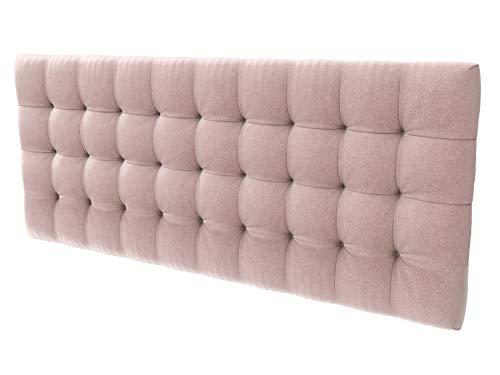LA WEB DEL COLCHON - Cabecero tapizado Manhattan para Cama de 150 (160 x 70 cms) Rosa Palo Textil Suave | Cama Juvenil | Cama Matrimonio | Cabezal Cama |