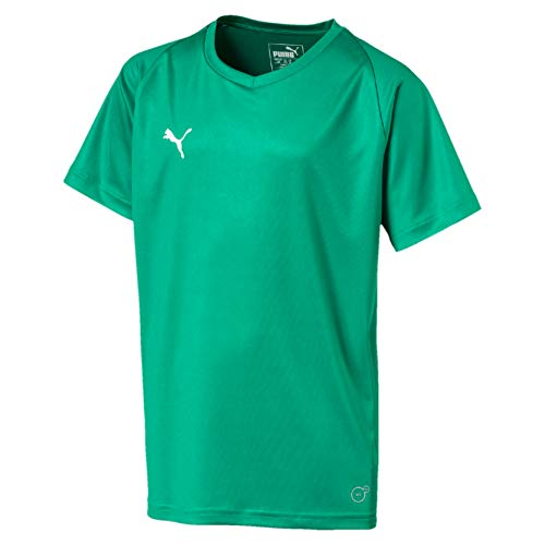 PUMA Kinder Liga Core Jersey, Pepper Green White, 140