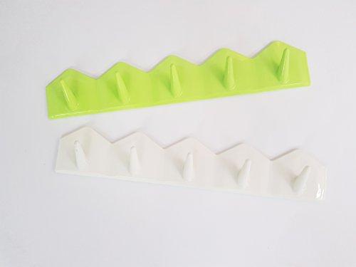 takestop® haakstrip 5 haken 2,0 kg Zig Zag sticker voor kleerhaken van kunststof voor kinderen, keukendoeken