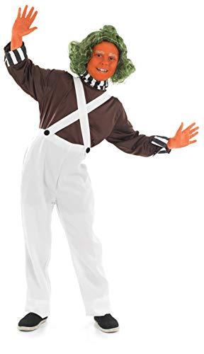 Fun Shack World Book Day Costume Disfraz del Día Mundial del Libro, Color Trabajador de la fábrica de Chocolate Dungarees, Extra-Large (FNK2984XL-US)