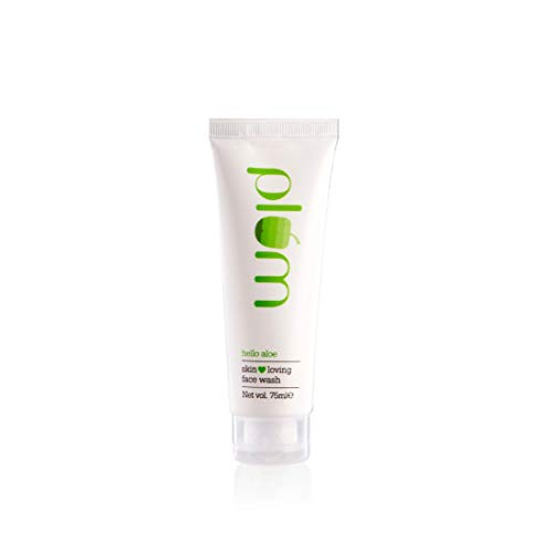 Plum Hello Aloe Skin Loving Face Wash   For Dry, Very Dry Skin   Gentle Cleanser   Aloe Vera   100% Vegan   Paraben Free   75ml