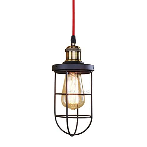 Araña industrial decoración luces colgantes creativos retro americano vintage metal marco de hierro e27 cafe restaurante ropa tienda de ropa iluminación lámparas de techo (Color : B)