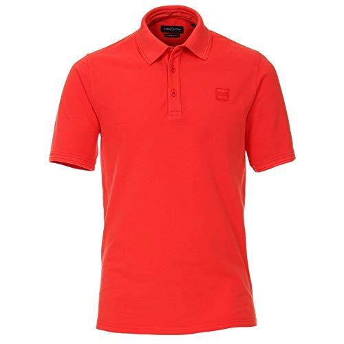 Casa Moda Plain Casual Polo Shirt 100% Cotton Logo on Chest Sizes XXL to 6XL XXL RED