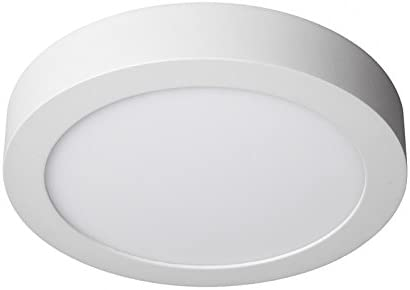 LEDUNI ® Downlight Plafón Superficie LED Redonda 20W 2000LM Color Blanco Neutro 4000K Angulo 120 IP40 OPAL Aluminio 225*40Hmm