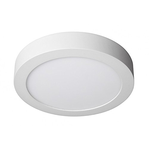 LEDUNI Downlight Panel Superficie LED Circular Redonda 20W 2000LM Plafon Redondo Para techo y Pared Color Blanco Frío 6000K Angulo 120 IP40 OPAL Aluminio 225 * 40Hmm