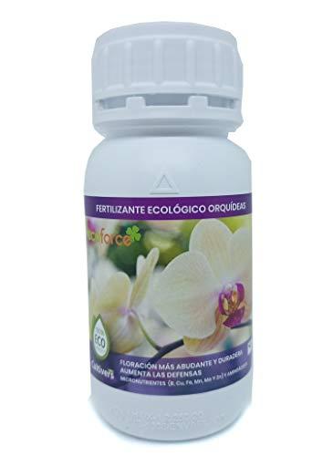 CULTIVERS Fertilizante Ecológico Orquídeas Líquido de 250 ml. Crecimiento Saludable, Mayor Floración e Intensifica...