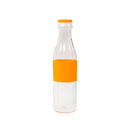 Balvi Botella Soda Color Naranja Botella de Agua de Cristal Original En...