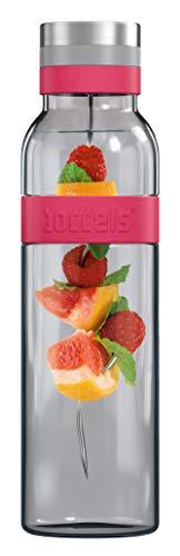 boddels Glaskaraffe SUND 1.100 ml (Himbeerrot) - Deine Wasserkaraffe für Zuhause