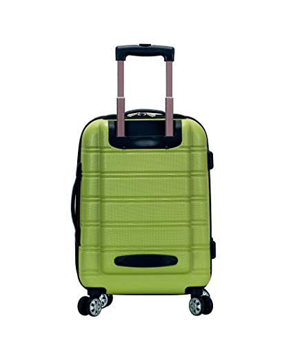 Rockland Melbourne Hardside Expandable Spinner Wheel Luggage, Lime, Carry-On 20-Inch