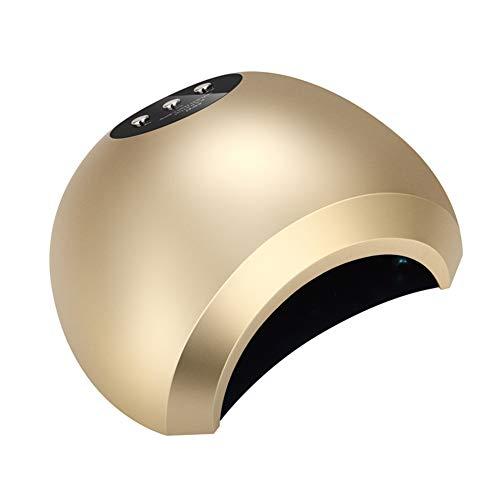 Lampes UV Sèche-ongles à induction UV LED Double lampe source de lumière Lampe perle de clou plaque inférieure détachable Convient pour les mains Pieds 100 / 240v,Gold