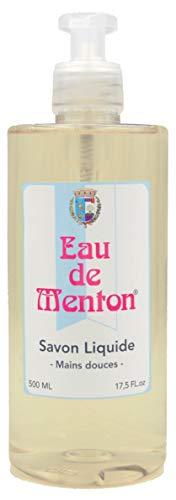 Savon liquide mains parfumé Eau de Menton (Citron) - Prestige de Menton, Artisan Parfumeur (500ml)