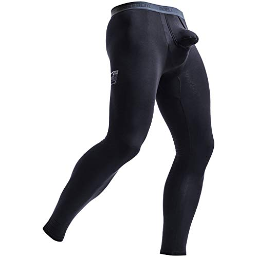 sunnymi Herren Hosen Sexy Stretch Breathe Thermal Separation Slim Long Pants für Herren