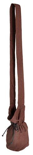 HEMAD Mittelalter Umhänge - Tasche braun klein Baumwolle- Mittelalter Kleidung