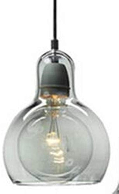 5151BuyWorld Lampe Moderne Led-Pendelleuchten American Industrial Lampe Retro Loft-Dekor-Glas E27 Pendelleuchte Hngeleuchte Fixture Top Qualitt {Rauchglas & Groe Gre}