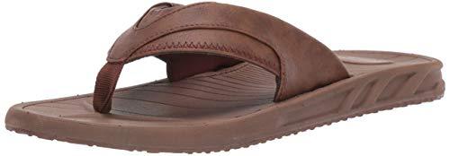Amazon Essentials Men's Flip Flop Sandal, Brown, 11 D US