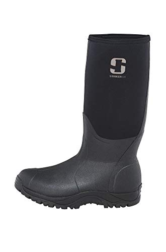 StrikerICE Insulated and Waterproof Rubber Boot, Size 9, Black