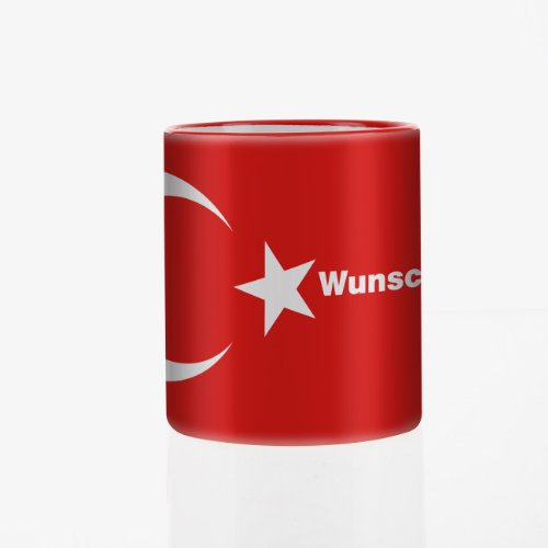 Herz und Heim® Tasse mit Wunschnamen & Flagge - Türkei -
